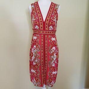London Times Size 8 Petite Paisley Print Dress